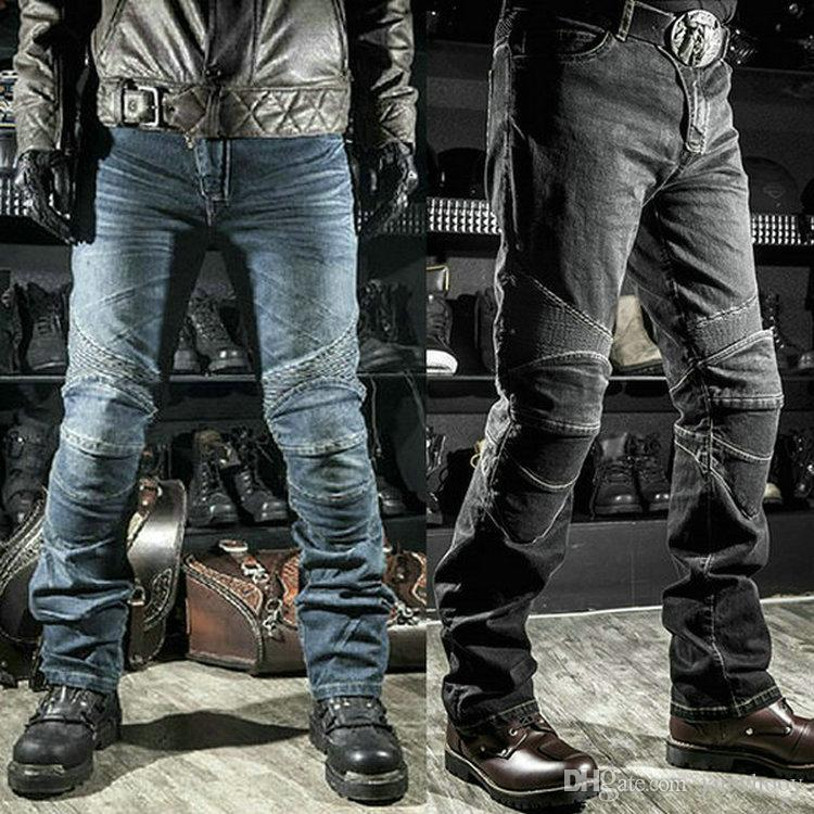 Hot sales Komine motorcycle riding jeans moto daily cycling protective pants loose straight classical motorbiker knight casual trousers