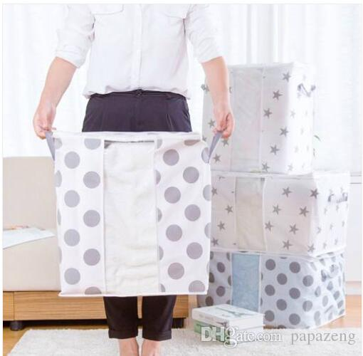 2019 Free shipping Wholesales Foldable Storage Bag Clothes Blanket Quilt Closet Sweater Organizer Box Pouches
