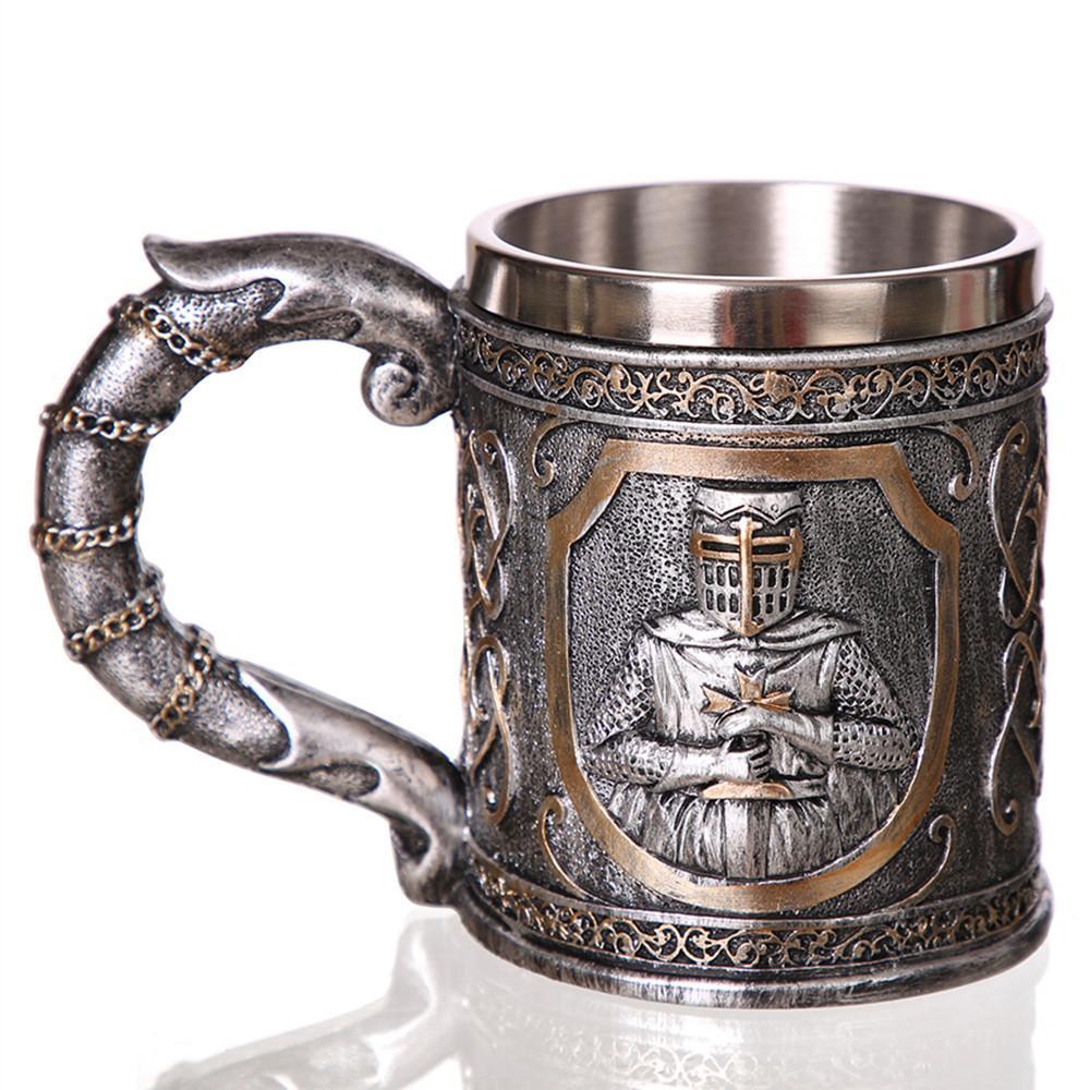 3D-Viking-Schädel Kaffee-Bierkrug Tankard Personalisierte Ursprünglicher Schädel-Becher für Home Bar Bier-Wein-Getränk-Geschenk für Männer Kaffeetasse Y200104