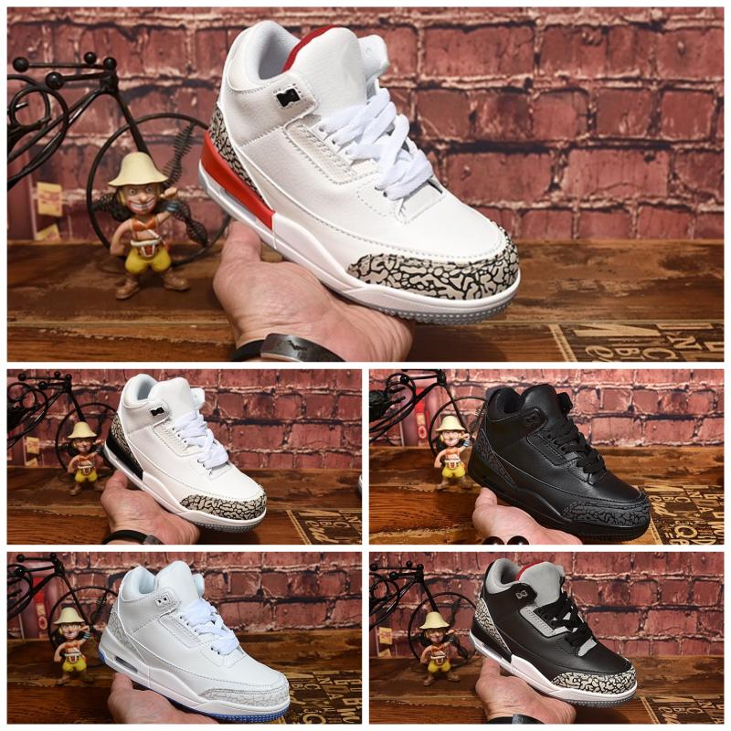 Nike Air Jordan 3 2020 bambini Athletic Shoes bambini J3 scarpe da basket lupo grigio Bambino J3 Sport Sneakers per Boy ragazza del bambino Chaussures