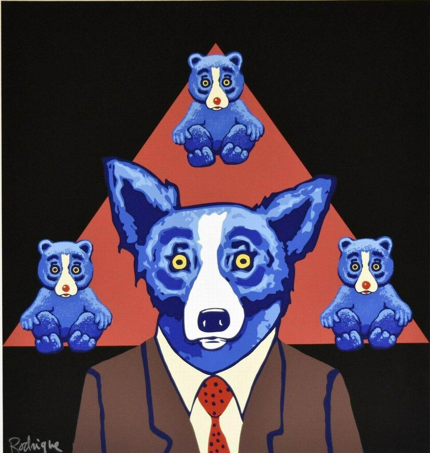 xa021 # Джордж Rodrigue голубой собаки Медведи сходству Home Decor ремесла / HD печати Картина маслом на холсте Wall Art Canvas картинки 200111