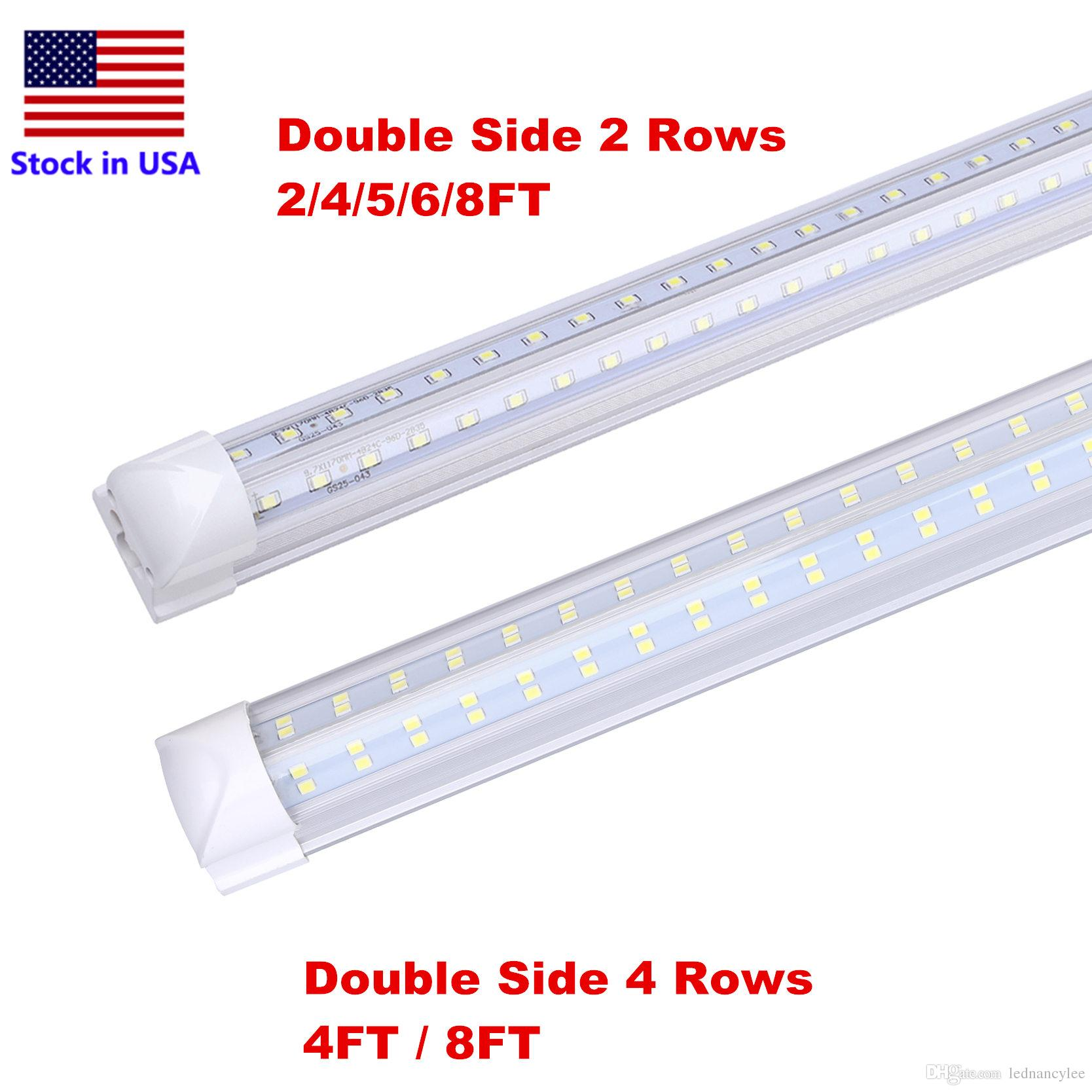 8foot Cooler Door Led 4 Rows 120w Integrated Tube 4ft 8ft T8 Led