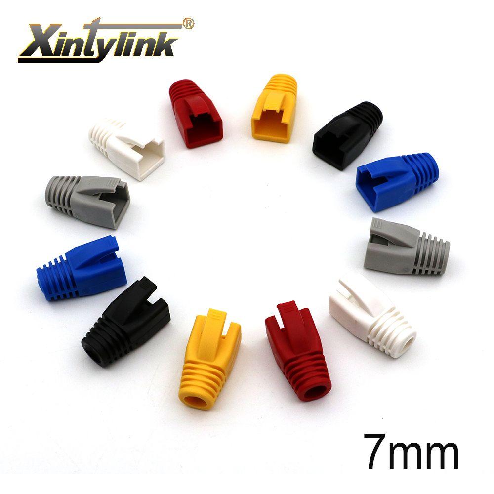 أضواء إضاءة xintylink قبعات RJ45 6 CAT5E CAT5 موصل متعددة الألوان الأحذية غمد كم واقية RJ-45 لشبكة كابل إيثرنت