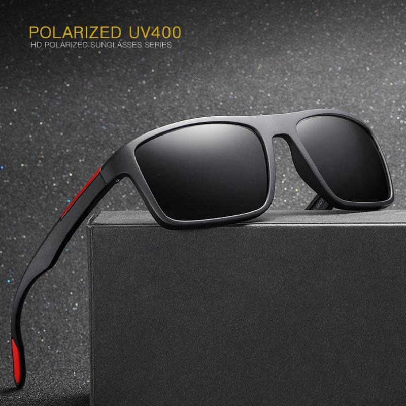 Anti-derrapante Matte moldura óculos polarizados Homens Driving / Sports Sunglass polarizada Shades Para Man / Mulheres Proteção UV Óculos aNLQB