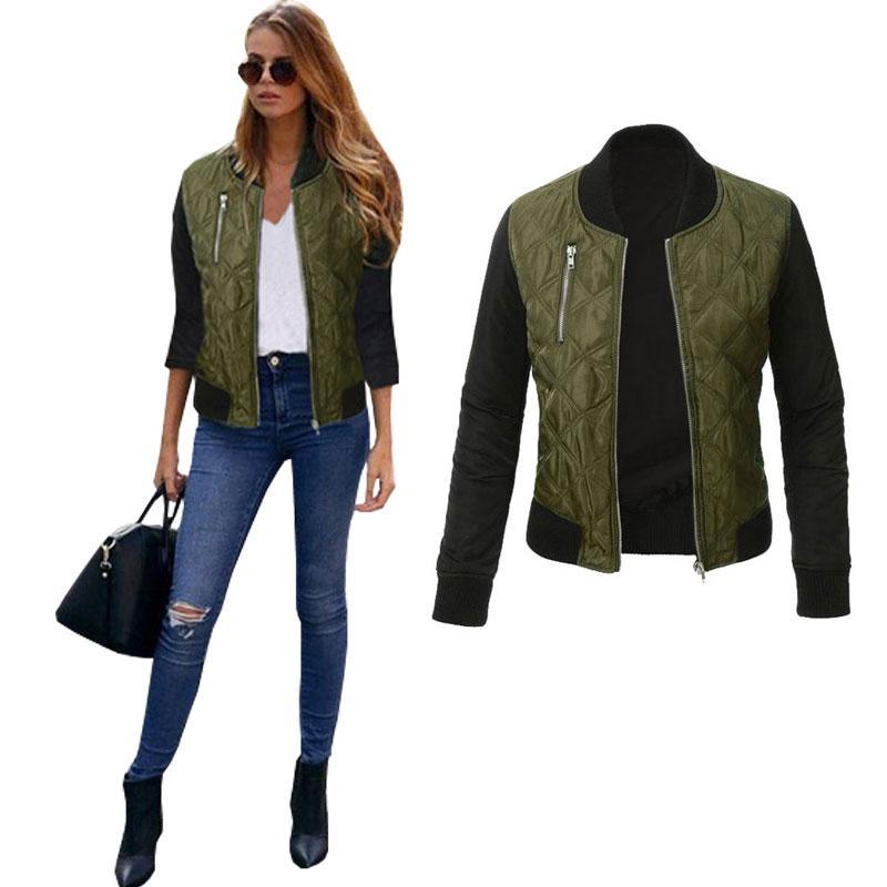 2016 여성 자켓 코트 패션 디자인 폭격기 재킷 육군 녹색 코트 여성 자켓 하라주쿠 블랙 코트 Chaquetas Mujer 겨울