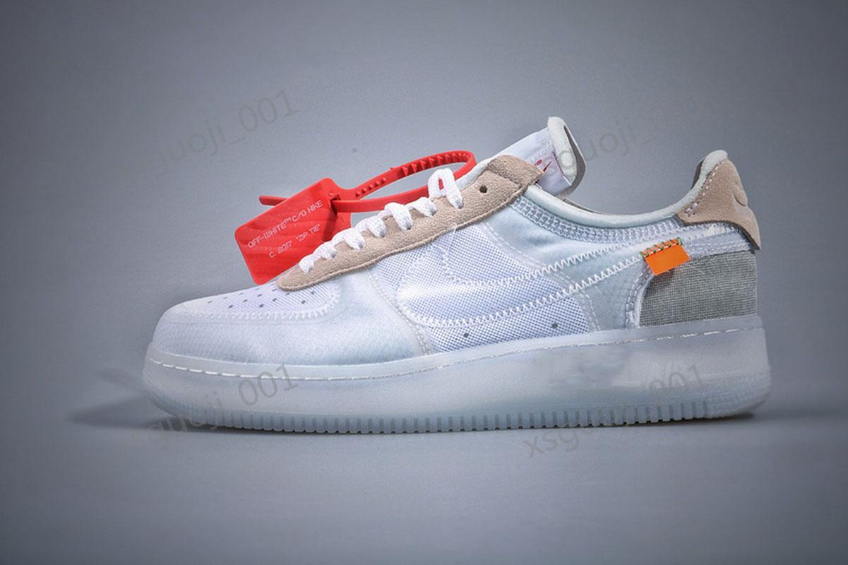 Off размер Force 1 MCA Синий Белый Красный Серебристый Мужчины Повседневная обувь Volt 2,0 Низкий черный и зеленый Дизайнерская обувь Xshfbcl 36-46