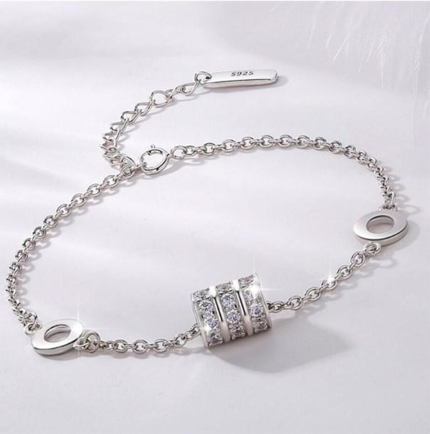 Sole Memory Good Luck Beads Simple Exquisite Personality Romantic 925 Sterling Silver Female Resizable Bracelets SBR237