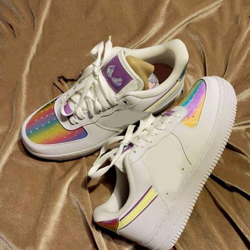 2020 del nuevo diseñador de zapatos 1 del monopatín bajo Pascua Dunk uno deportivas zapatillas de deporte de los zapatos corrientes de arco iris para los hombres casual para mujer des Chaussures