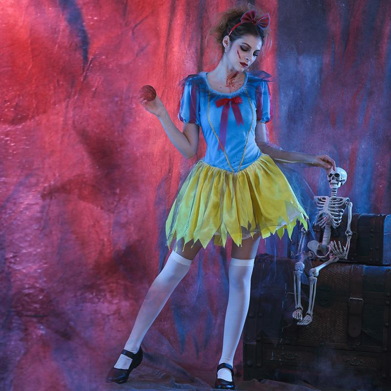 Zombie Mistress Gothic Undead Woman Fancy Dress Up Halloween Adult Costume
