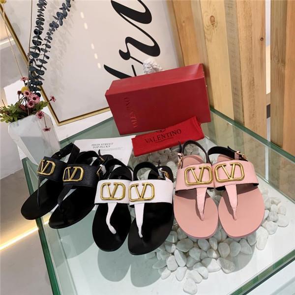 Le donne classiche 2020 Top Designer Casual Shoes sandali di estate di alta qualità di lusso tallone piano 3 colori struttura di cuoio acqua-macchiato