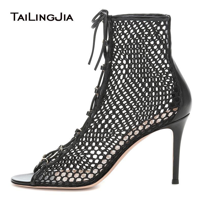 Latest High Heel Black Fishnet Ankle