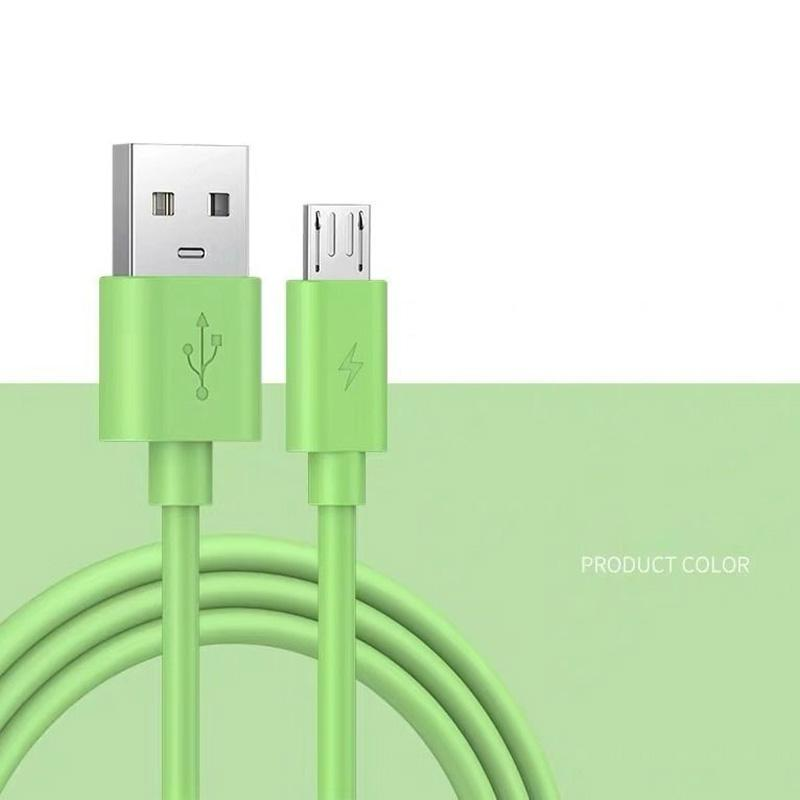 Micro USB Silicone Cable 1.2m 1.8m Fast Charging Data Sync 2A Cable for Samsung Huawei Xiaomi Sony Phone 52
