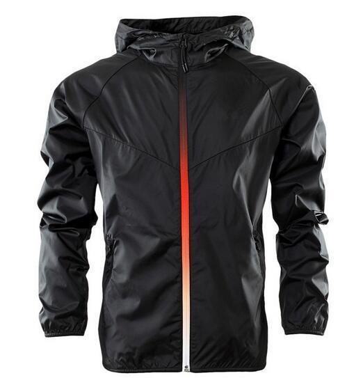 Diseñador de moda suéter con capucha de los hombres de la chaqueta de manga larga otoño deportes al aire libre Windrunner cremallera Cazadora Capa más el tamaño S-3XL 4ZSL HA3X