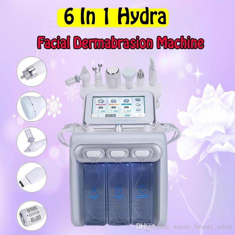 newest 6 in 1 oxygen jet peel facial whitening anti aging hydra dermabrasion hydra facial machine