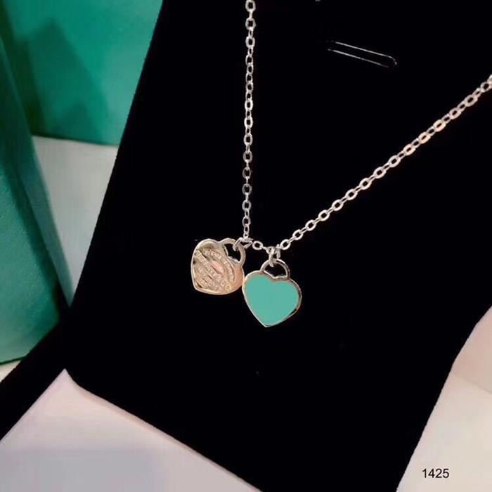 신부 레이디 디자인 여자의 파티 웨딩 약혼 럭셔리 보석 우표 925 스털링 실버 심장 디자이너 목걸이를 가지고