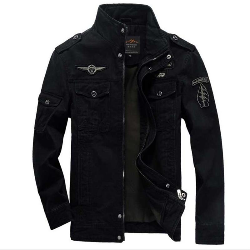 Songsanding Men's Thick Cotton Jacket Lapel Camo Military Pilot Men's Jacket Work Jacket M-3XL Autumn Winter New