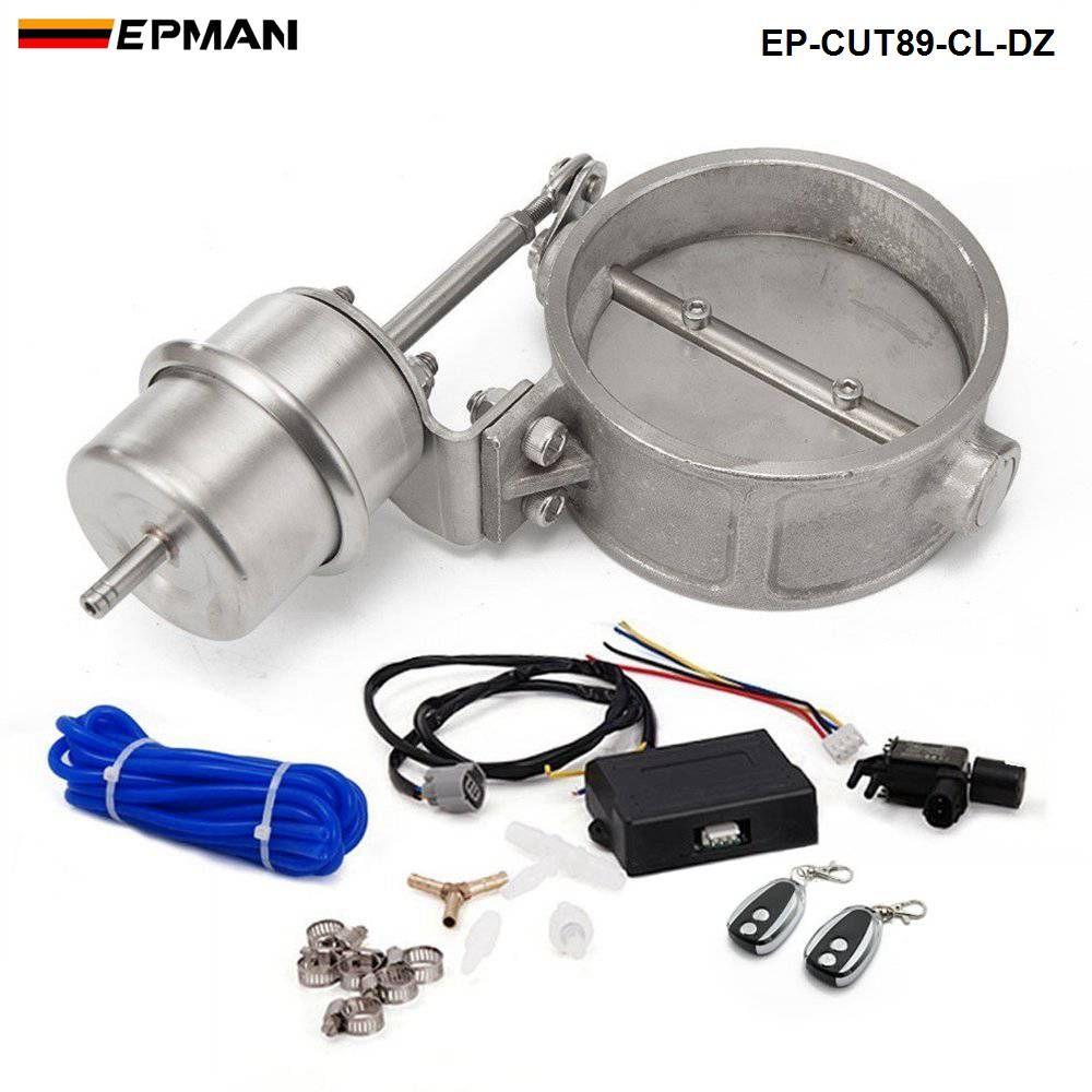 Novo H G 89mm de Alta Qualidade Válvula de Recorte de Espaço de Vácuo Fechado com Controlador Remoto Sem Fio EP-CUT89-CL-DZ