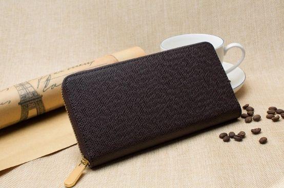Livraison gratuite! Styliste portefeuille en cuir d'embrayage avec le sac à poussière 60017