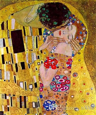 The Kiss by Gustav Klimt Handpainted & HD Print Famous Abstract Oil Painting On Canvas Wall Art Home Deco Free Shipping p187 200314