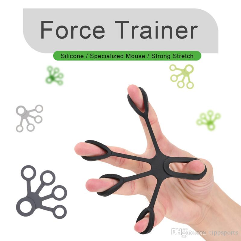 Silicone Finger Training Expander Stretch Hand Gripper Resistance Band Tension