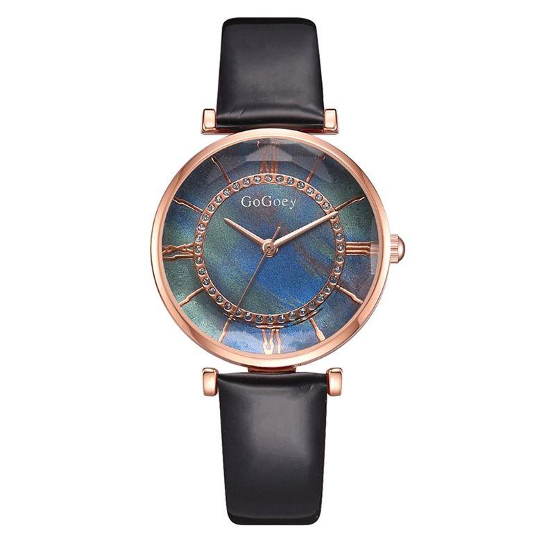 das mulheres relógio de pulso Assista Pu Strap Ladies temperamento clássico de tendência de quartzo de quartzo Relógios de pulso
