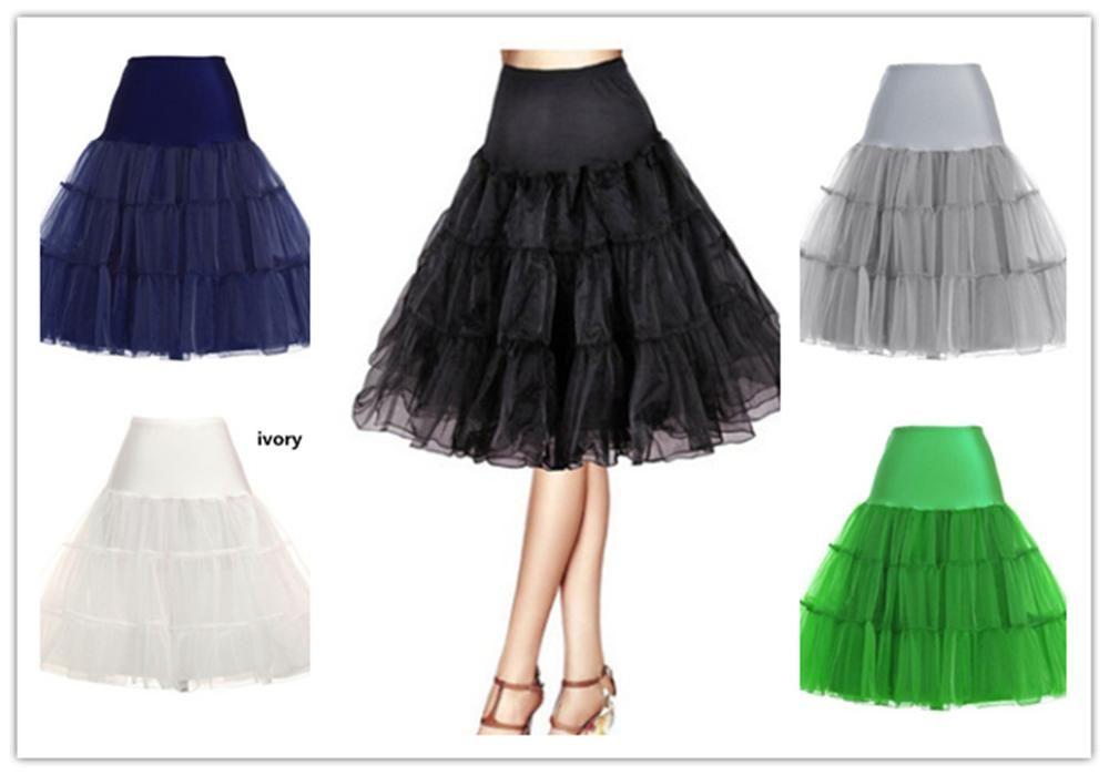 Resmi Bahar Cosplay Petticoat kızın Jüpon 65 CM Uzunluk Diz Kısa Düğün Petticoat 3 Katmanlar Kabarık Organze Akşam Tutu
