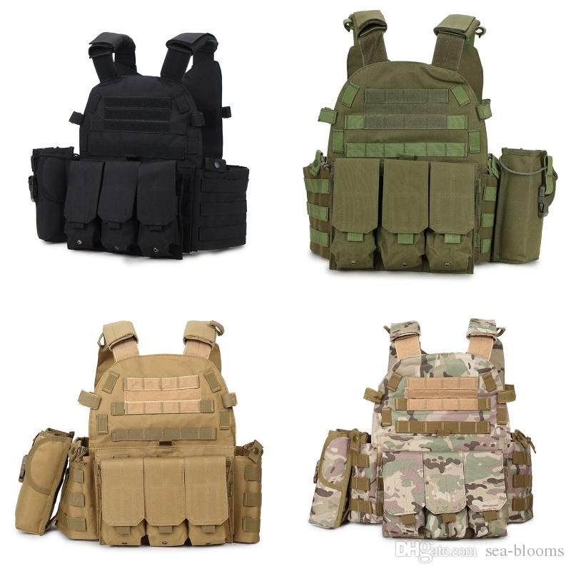 Hohe Qualität COS Outdoor Taktische Weste 3 CQC Ghost Jagd Weste CS Ausrüstung Armee Kampf Weste Uniform Westen 4 Farben Freies DHL M119F