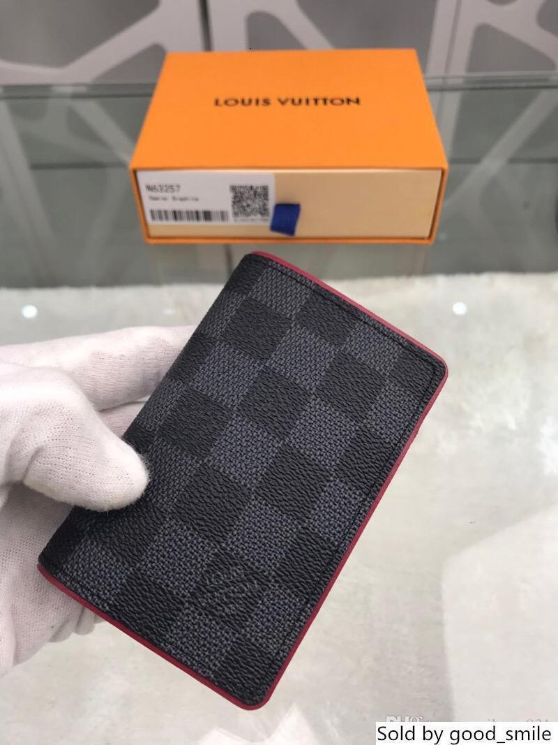 Monederos de cuero del diseñador de las mujeres Llanura corto carpetas de las señoras abeja titular de la tarjeta de crédito bolsos Oferta Especial