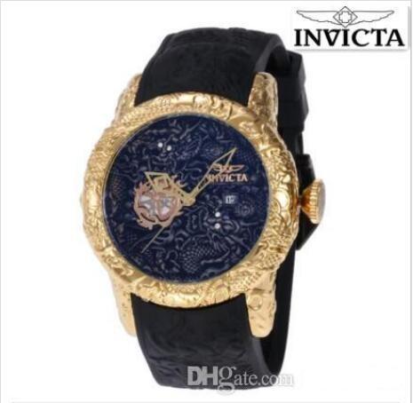 Дропшиппинг 2020 новый стиль высокое качество швейцарский логотип INVICTA вращающийся циферблат Спорт на открытом воздухе мужские часы силиконовые роскошные кварцевые часы