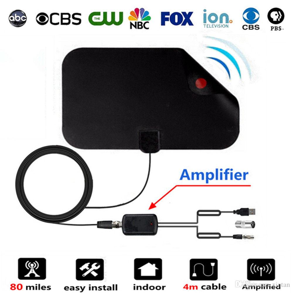Indoor Digital TV Antenna with Signal Amplifier Booster for HDTV Cable TV Antena TV Radius Surf HD DVB-T Antennas