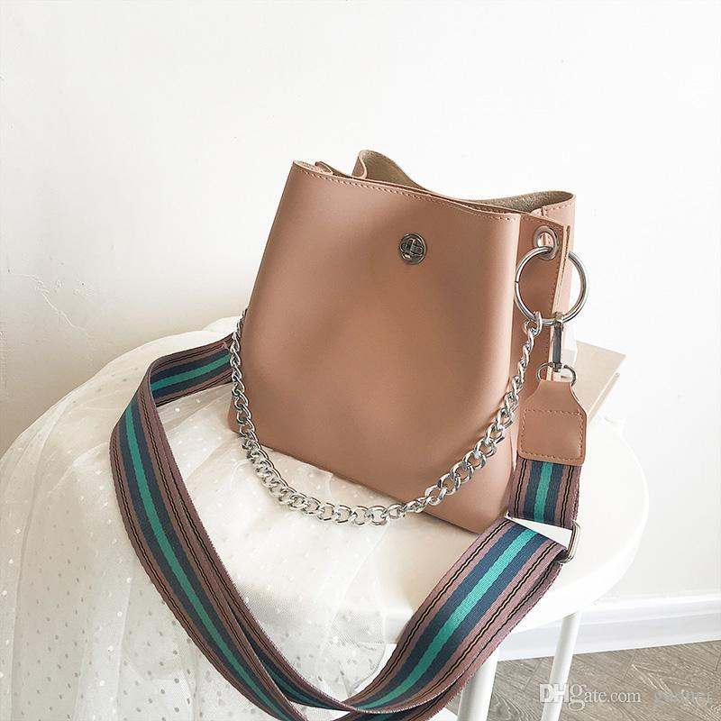 Bag New Chain Shoulder Large Messenger Fashion Lady Handbags Bucket Tote Bags Plaid Handbag Designer Designer- Yazi/4 Fxxdf