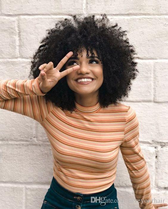 nuevas mujeres peinado del pelo brasileño rizado peluca rizada Americ estilo bob corto africana Simulación del cabello humano afro peluca rizada corta con la explosión