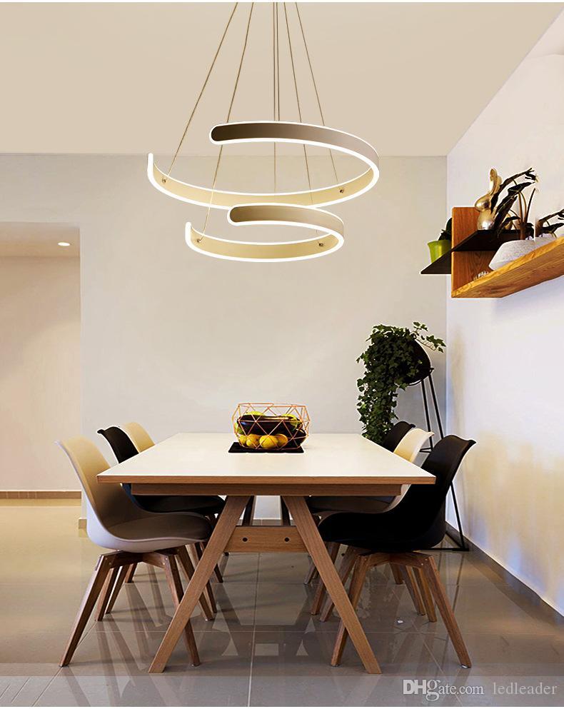 Led moderno colgante accesorios de iluminación Lustre cocina sala de estar comedor lámpara colgante de hierro blanco decoración del hogar iluminación 220V-Le37