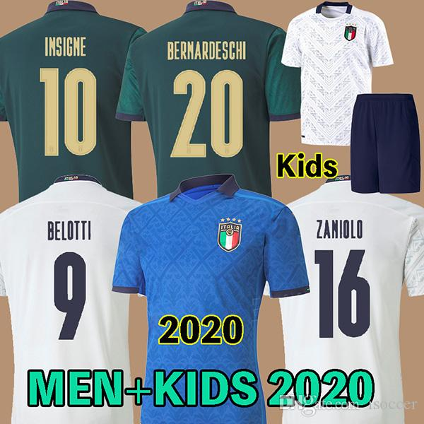 men + kids 2020 italy soccer jersey INSIGNE Renaissance italy football shirt CHIELLINI BONUCCI BERNARDESCHI BELOTTI SENSI BARELLA home away