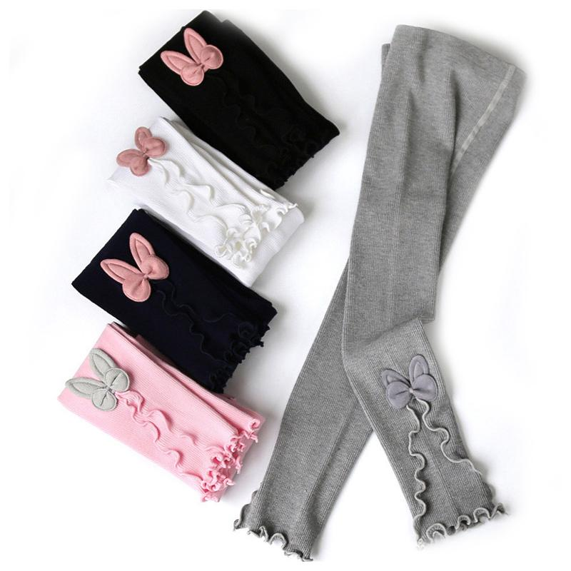 Baby Girls Tight Trousers 15 Colors Cartoon Lace Elastic Leggings Big Girls Bows Bunny Ear Skinny Pants Knitted Pencil Pants 060609
