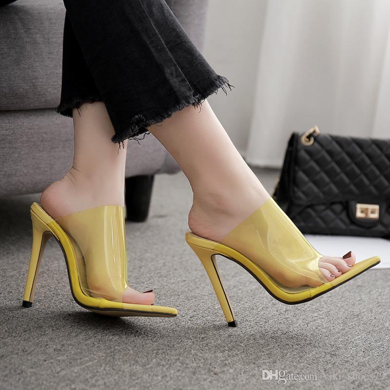 sweety belle designer célèbre marque femmes sandale sexy PVC recouvert talon club de mode chaussures de danse fille été sandales
