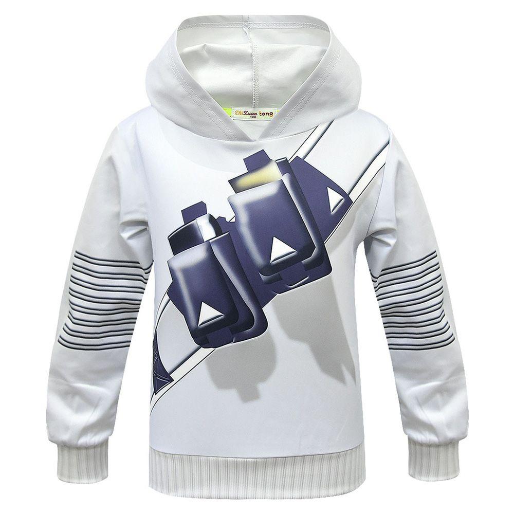 Hoodies Hoody Sweatshirt DJ Marshmallow Boy Girl Tops Pants Cosplay Fancy Outfit