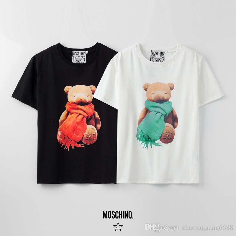 2020 de alta calidad de las mujeres de los hombres y de las misma camiseta de algodón camiseta de imprenta alfabeto del lujo verano bordado camiseta 012