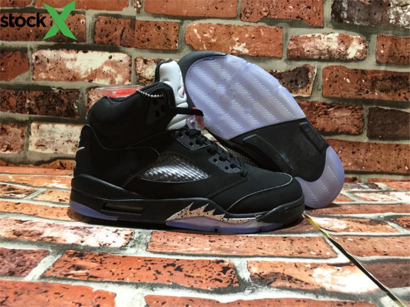 Vente en gros de haute qualité 5 V OG Noir Métallisé Hommes Jordon basket-ball de sport de Chaussures Chaussures Baskets Sneakers Taille de US7--13