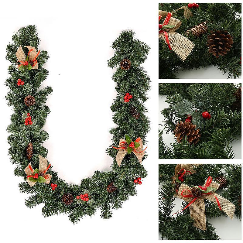 DIY Yapay Çiçek Çelenk Sahte Bitkiler Çam Dallar Noel Partisi Dekoru Yılbaşı Ağacı Süsler Çocuk Hediye T191202 Malzemeleri