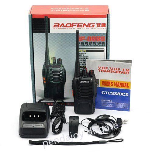 도매 보풍 BF-888S (10 PCS) 무전기 5W 양방향 라디오 UHF 400-470MHz 주파수 휴대용 비용 효과적인