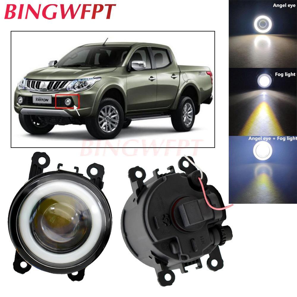 Bulb 2pcs Car Acessórios LED H11 nevoeiro Anjo Daytime Eye Correndo Lamp 12V Para Mitsubishi ML Triton 2006 ~ 2009