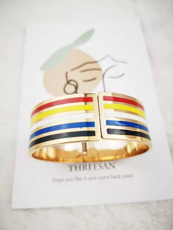 Rainbow Europea y marcas clásicas estadounidenses de acero brazaletes mujer