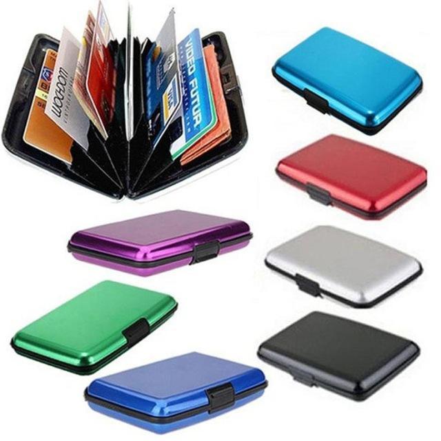 ID Credit Card Wallet Holder Antimagnetic Waterproof Aluminum Cards Holder Pocket Wallet Holder Business ID Credit Card Metal