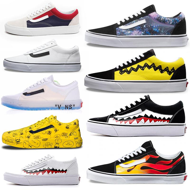 2018 neue freizeitschuhe schlauch von der wand herren skate schuhe tirple balck damen outdoor sports schuhe old skool designer turnschuhe trainer 36-45