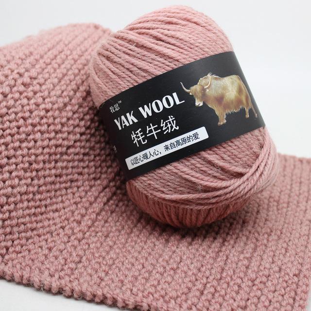 Cheap filato pettinato Medio Spesso Discussione Blended bambino molle Lana Filati Yak Cashmere per mano a maglia da 3,5 millimetri JB001 Crochet Needle 100g / ball