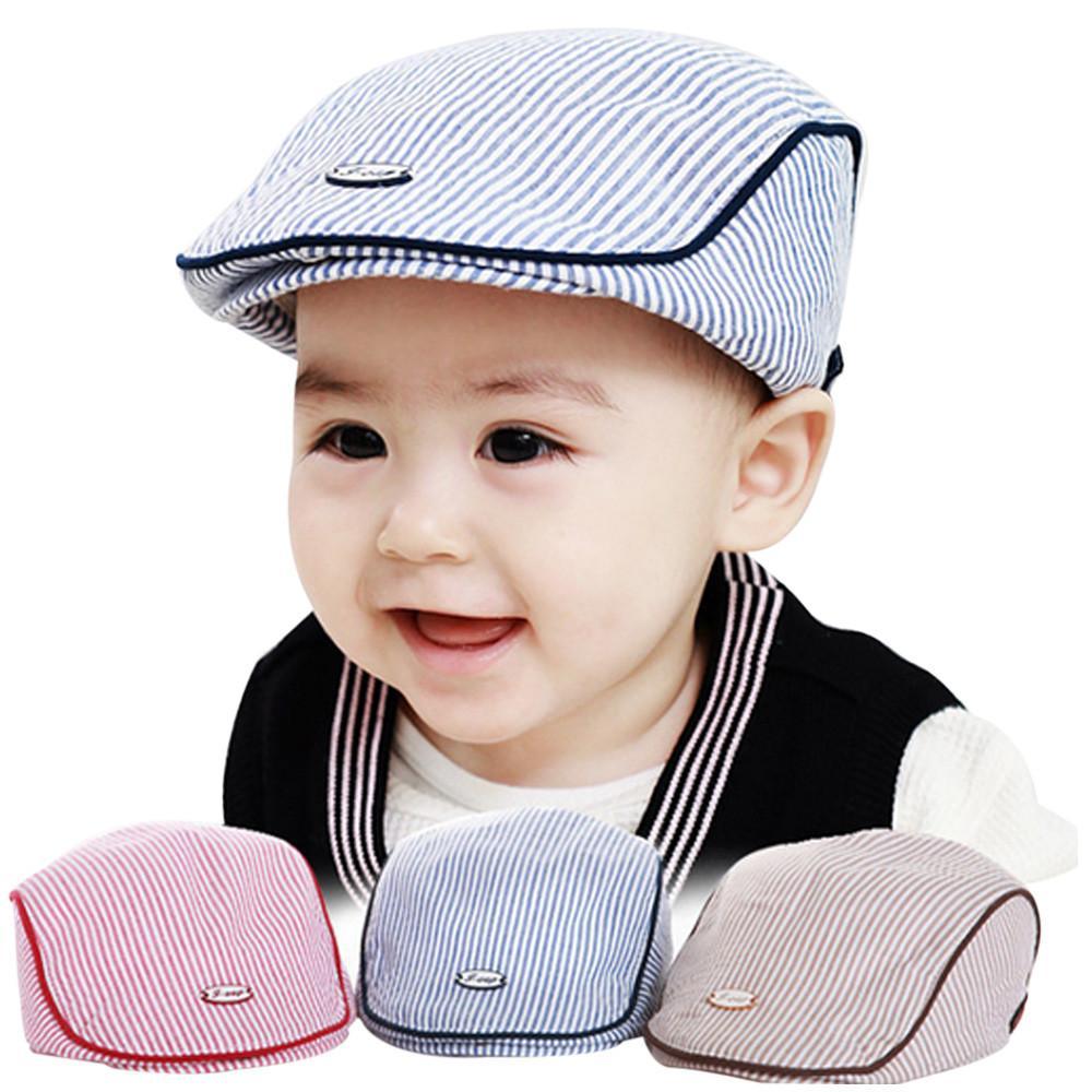 Новая Мода Милый Ребенок Младенческой Мальчик Девочка Полоса Берет Крышка Остроконечная Бейсбол Шляпа