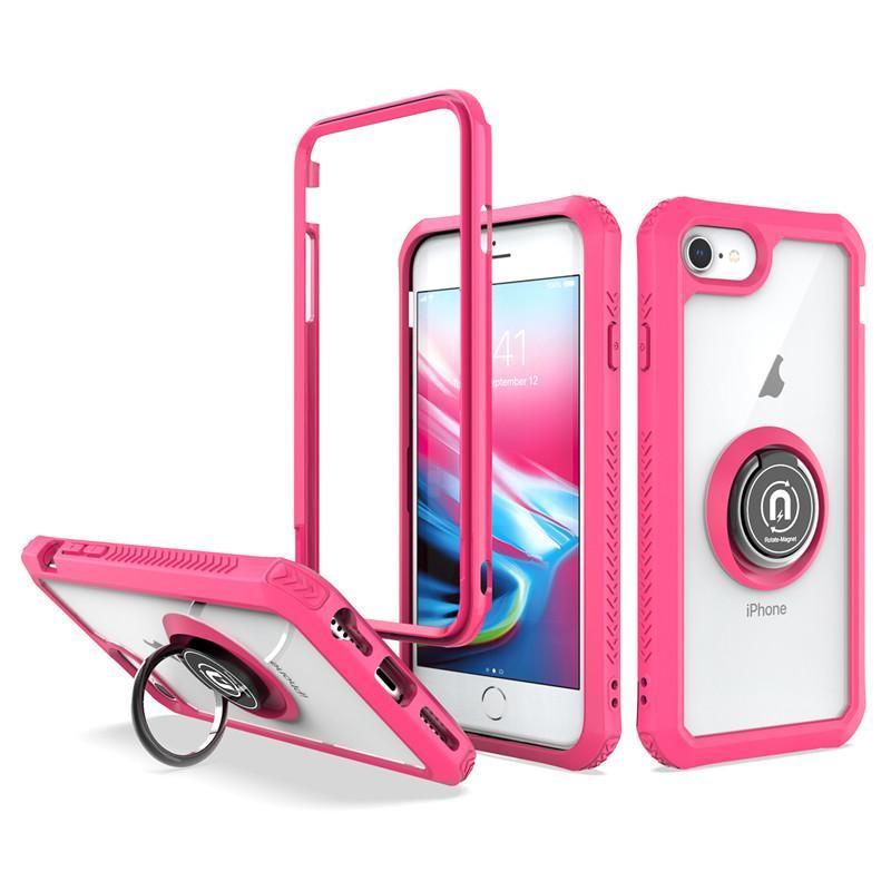 Para LG K51 Stylo 6 A20 G Stylus Phone Case Limpar TPU Bumper PC rígido Capa Magnetic Car Anel Holder A