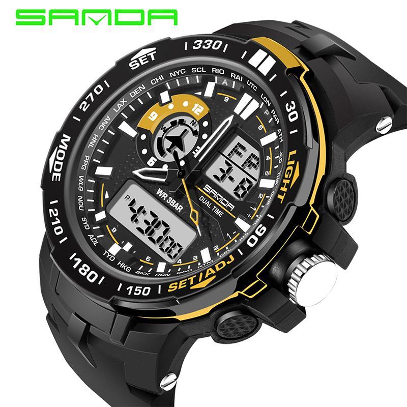 wholesale Military Mens Watches Waterproof Sport Watch Men Multifunctional S Shock Clock Male horloges manne Relogio Masculino 737