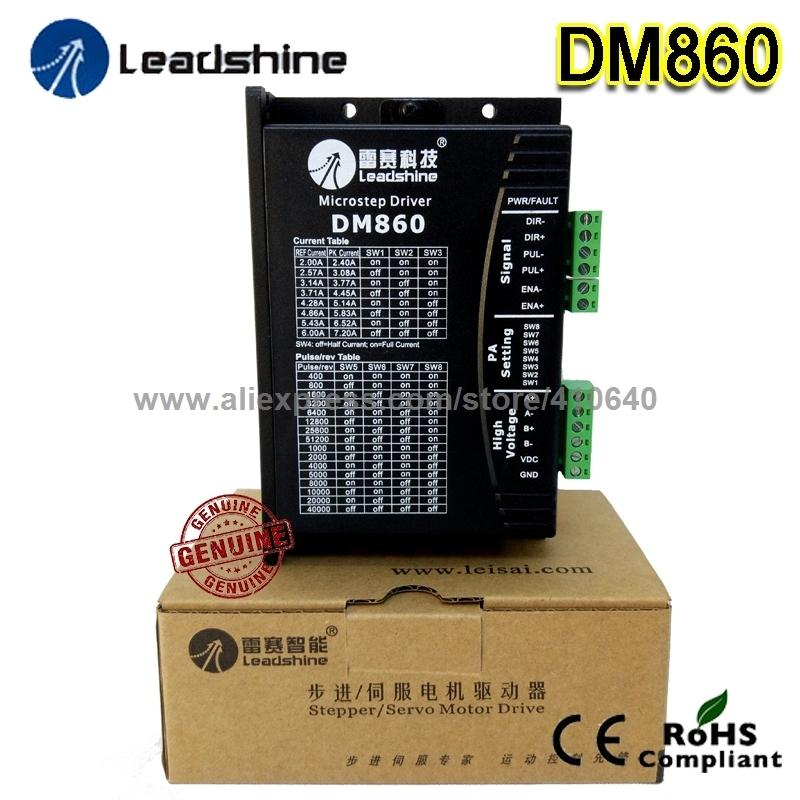1 Piece Genuine Leadshine Dm860 2-phase 32-bit Dsp Digital Stepper Drive Of 20 To 80 Vdc Voltage And 2.4 - 7.2a Output Current